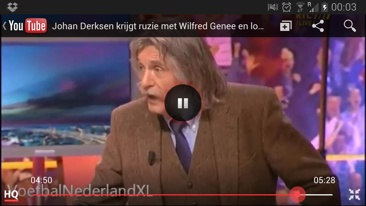Johan derksen en wilfred Genee ruzie 2013 14 maart